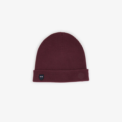 Burgundy ribbed cotton beanie
