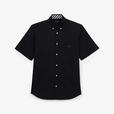 Embroidered black cotton French Flair shirt