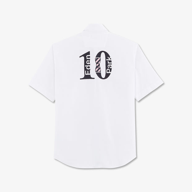 Embroidered white cotton Number 10 shirt