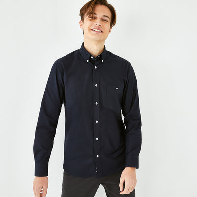 Embroidered navy blue cotton Half Time shirt