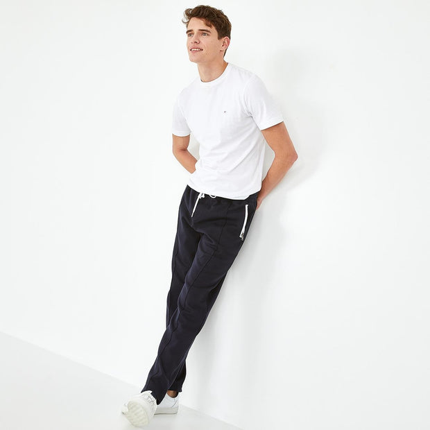 Breathable navy blue cotton tracksuit trousers