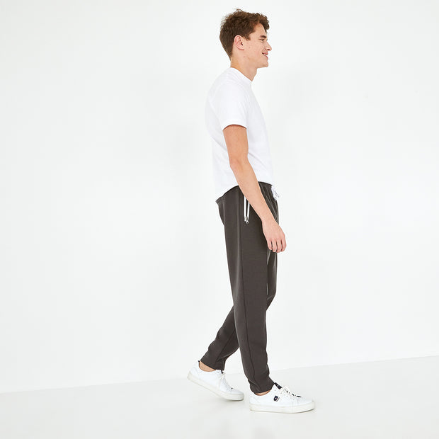 Breathable khaki cotton tracksuit trousers