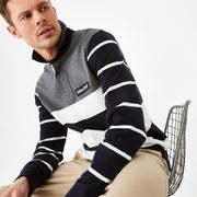 Striped color-block cotton rugby shirt