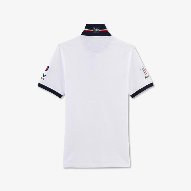 Slim fit white cotton piqué FFR polo