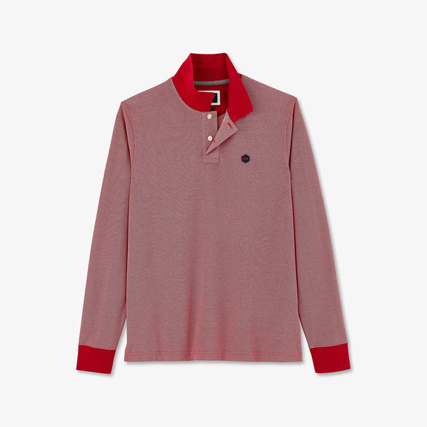 Red Pima cotton piqué Hexa polo