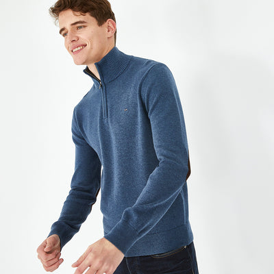 Zip neck green wool-and-mixed-fabric-and-mixed-fabric Cambridge jumper