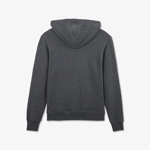 Hooded grey fleece sweatshirt