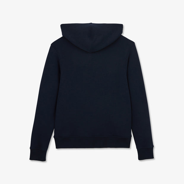 Hooded navy blue zip Hexa sweatshirt