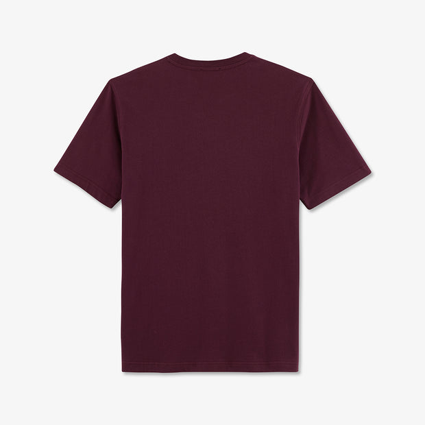 Embroidered burgundy cotton T-shirt