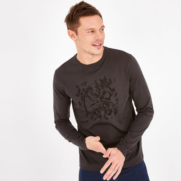 Long-sleeved print Pima cotton T-shirt