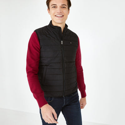 Black Yohan quilted rain gilet