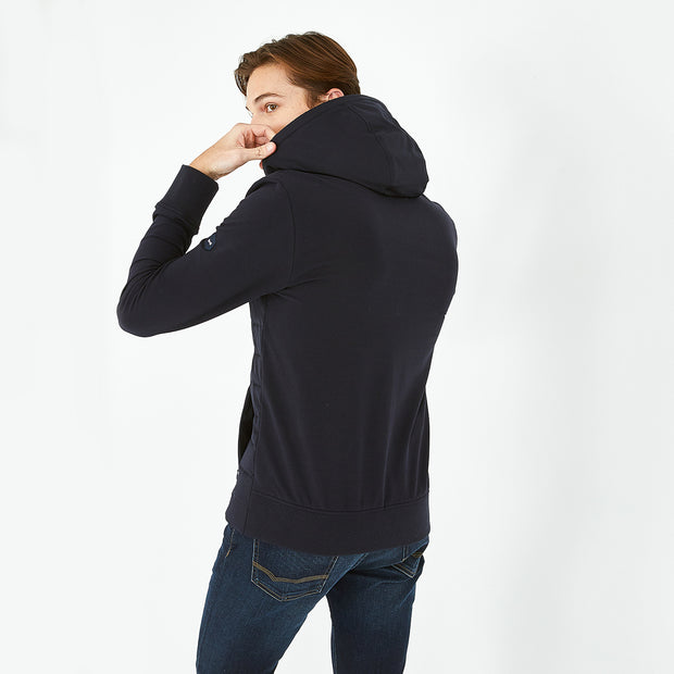 Slim fit navy blue Hexa Atlantic jacket