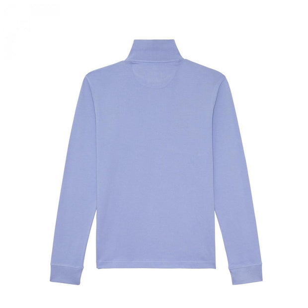 Plain stretch long sleeves blue polo
