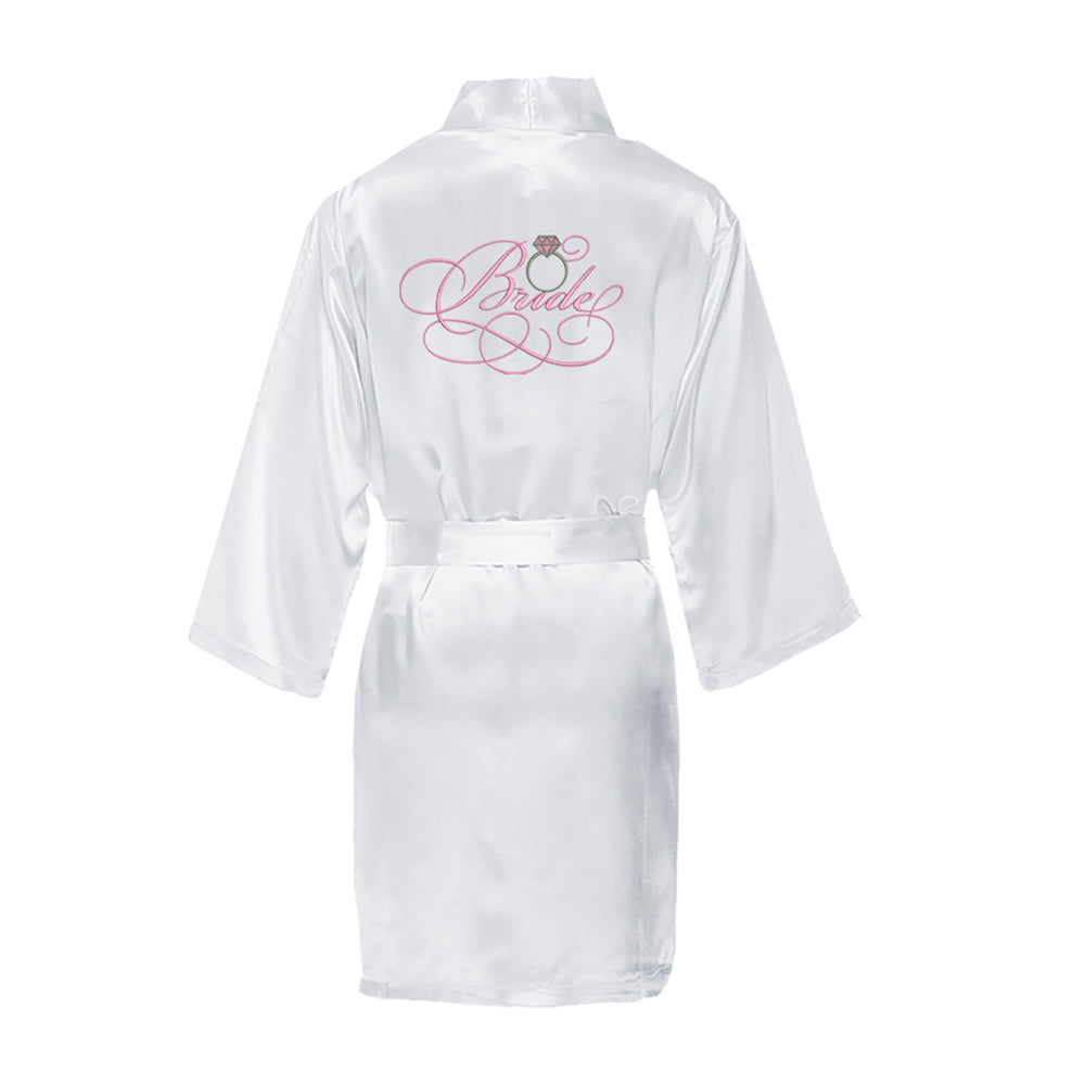 Load image into Gallery viewer, Bridal Satin Robe with Wedding Ring
