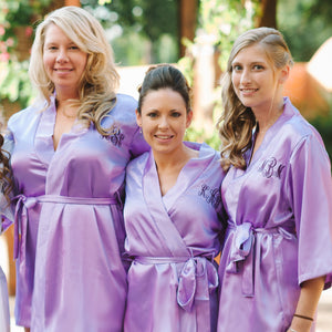 Load image into Gallery viewer, Monogrammed Satin Robe