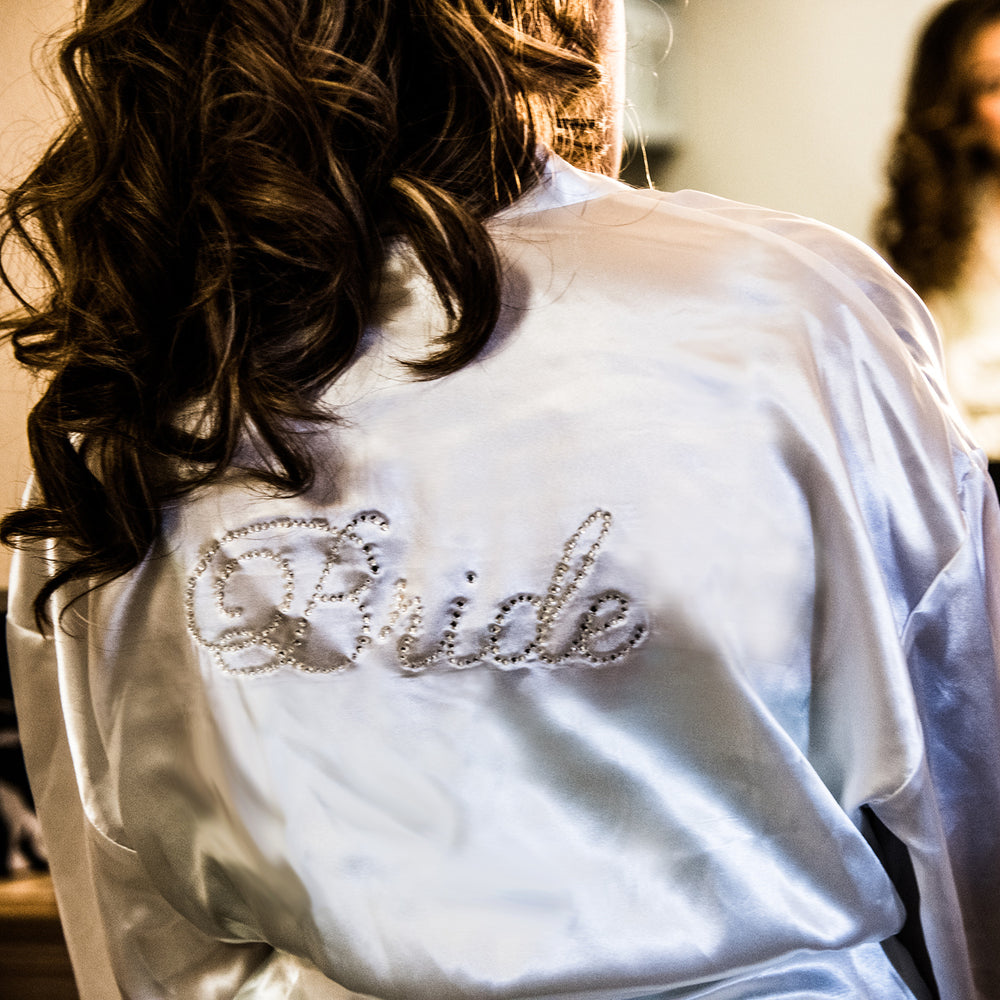 Load image into Gallery viewer, Rhinestone Bride Robe