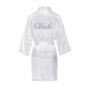 Load image into Gallery viewer, Rhinestone Flower Girl Robe