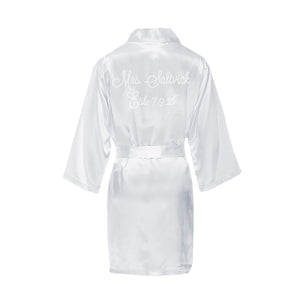 Custom Rhinestone Mrs. Bridal Robe with Wedding Date