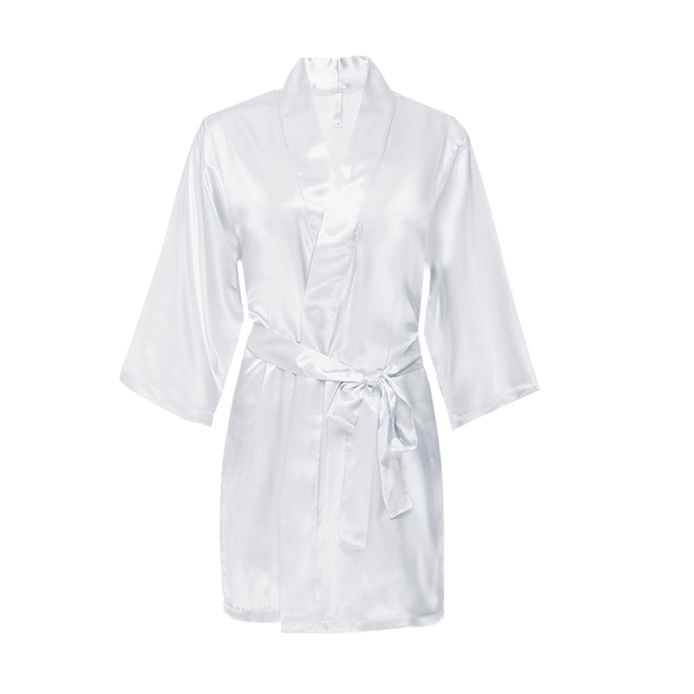 Load image into Gallery viewer, Mrs. Satin Robe with Rhinestone Accent