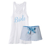 Bride Pajamas, Something Blue for the Bride to Be, Bachelorette Party