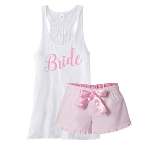 Load image into Gallery viewer, Bridal Shower Gift, Bride Pajamas, Bride to be Gift, Blushing Bride