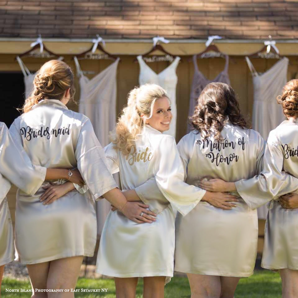 Glitter Bridal Party Robes
