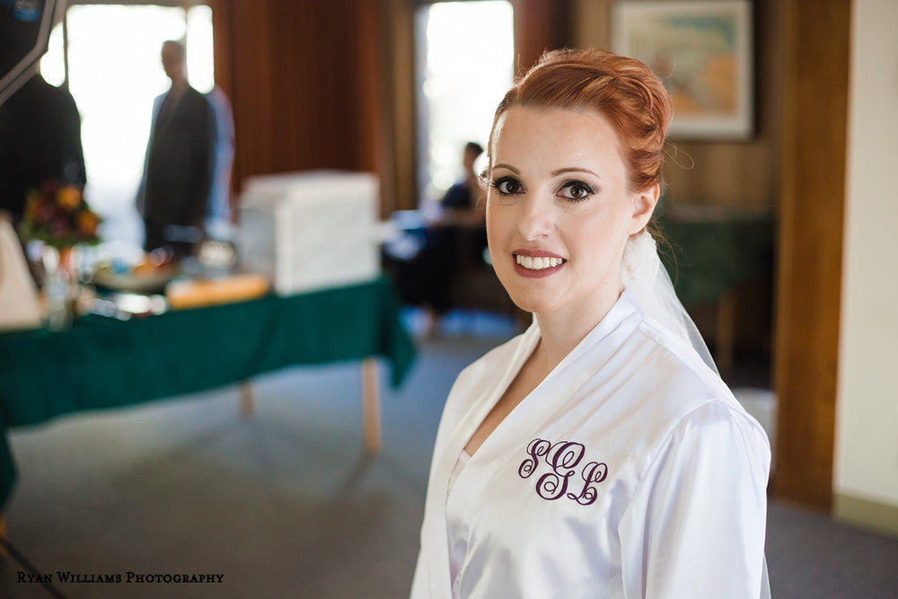 Personalized Mrs. Satin Bridal Robe with Monogram