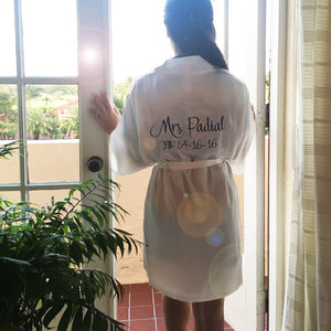 Load image into Gallery viewer, Personalized Mrs. Satin Bridal Robe