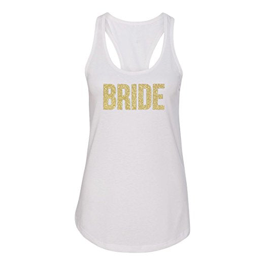 Load image into Gallery viewer, Bride Glitter Racerback Tank Top