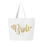 Bride Tote Bag, The Bride's Bag, Bride Bag, Bride Glitter Tote Bag