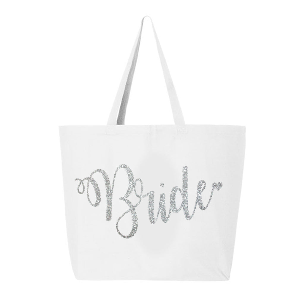Load image into Gallery viewer, Bride Glitter Tote Bag