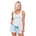 Bride Pajamas, Something Blue, Bridal Shower Gift, Bachelorette Party Gift