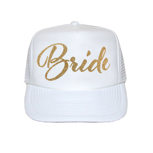 Load image into Gallery viewer, Bride Script Trucker Hat
