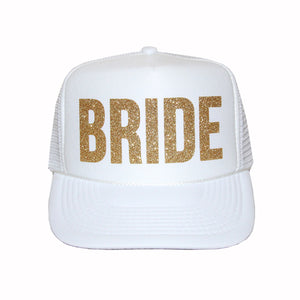 Load image into Gallery viewer, Bride Glitter Trucker Hat
