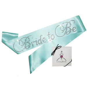 Rhinestone Bride to Be Sash