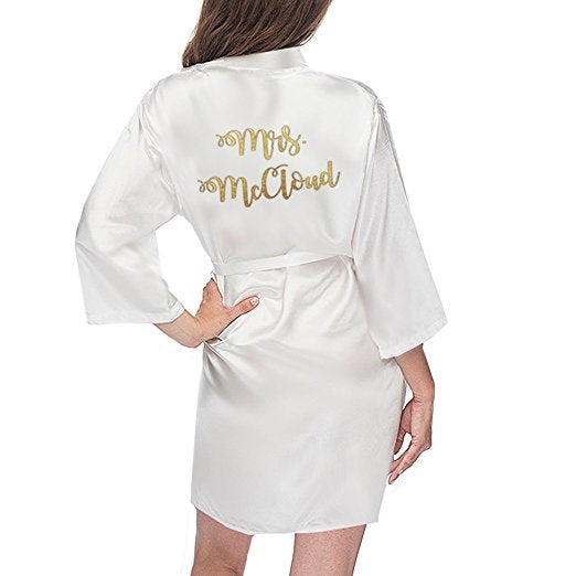 Custom Printed Mrs. Robe - KNEE LENGTH