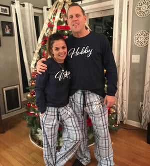 Load image into Gallery viewer, Hubby Wifey Pajamas, Classy Bride Pajamas, Newlywed Pajamas, Gift for the Couple