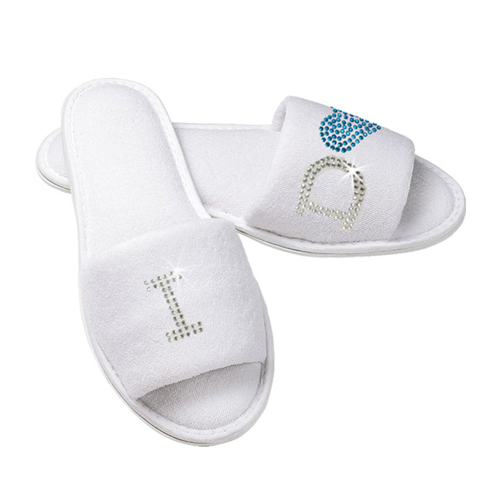 I Do Rhinestone Slippers