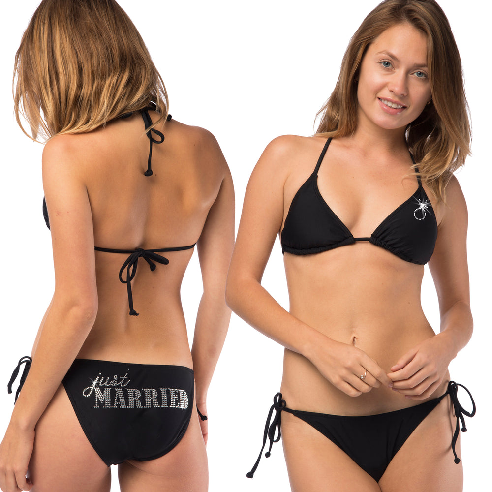 Load image into Gallery viewer, Just Married Classic String Bikini