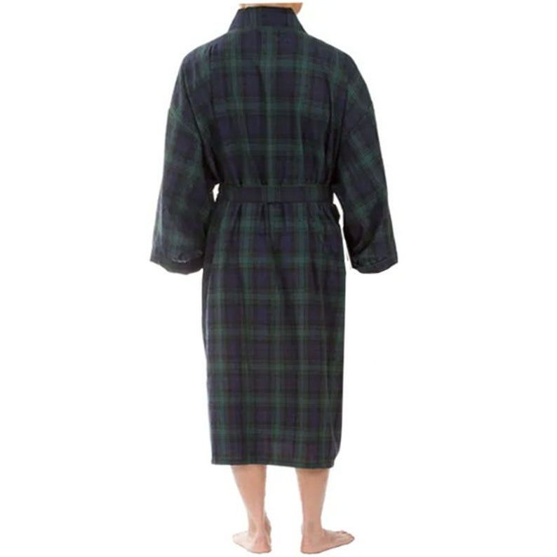 Monogrammed Mens Plaid Robe
