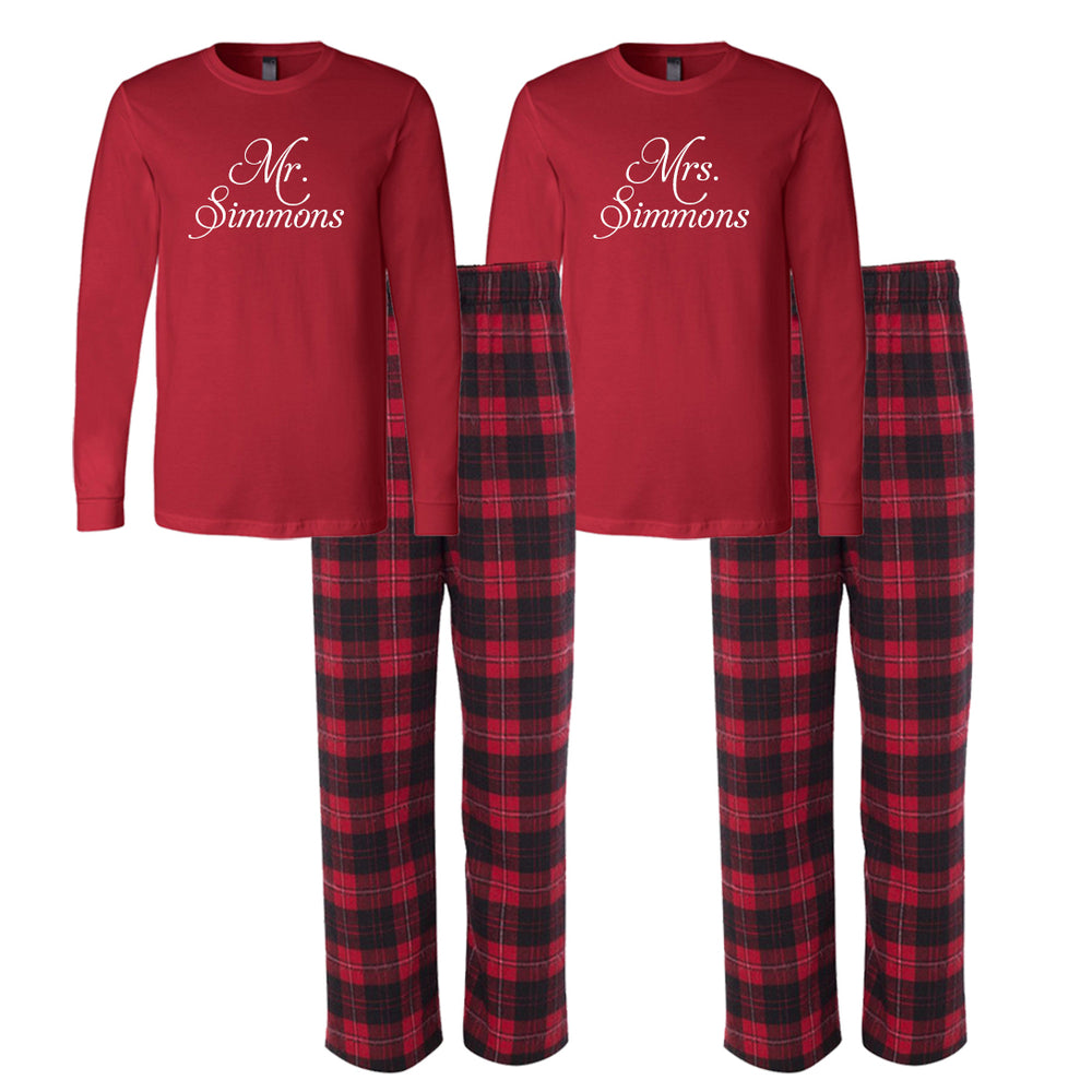 Custom Wedding Pajamas, Mr. and Mrs. Pajamas, Bride and Groom Pajamas, Personalized Pajamas