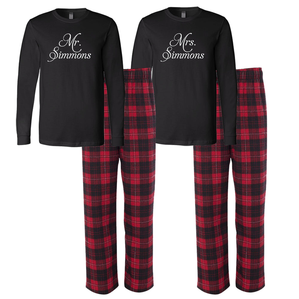 Couples Gifts, Personalized Wedding Pajamas, Mr. and Mrs. Pajamas, Couples Pajamas, Gifts for the Couple