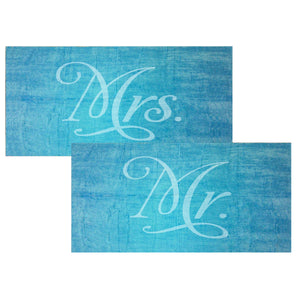 Personalized Mr. and Mrs. Beach Towel Tote Bag Set