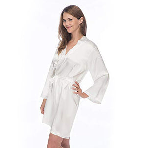 Load image into Gallery viewer, Mr. and Mrs. Robe Set, Mrs. Robe, Satin Robe, Knee Length Robe