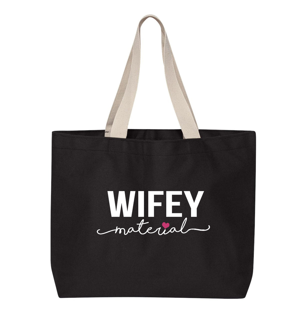 Load image into Gallery viewer, WIFEY Material Bridal Tote Bag