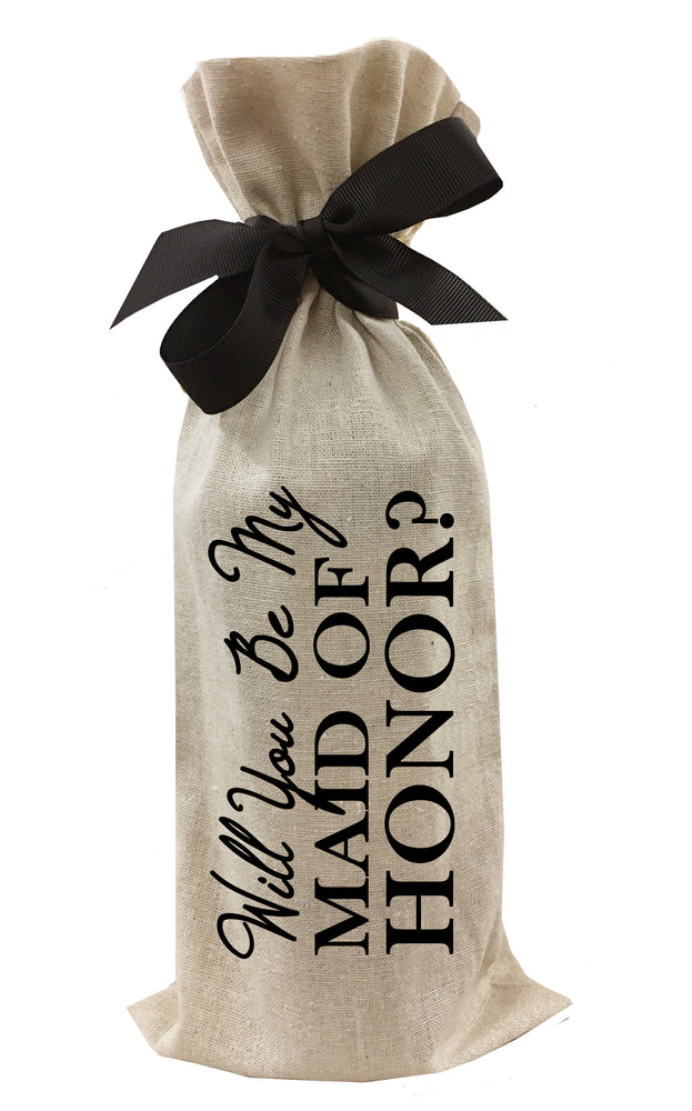Will You Be My Maid of Honor? Wine Bag