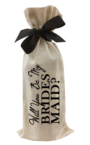 Load image into Gallery viewer, Will You Be My Bridesmaid? Wine Bag