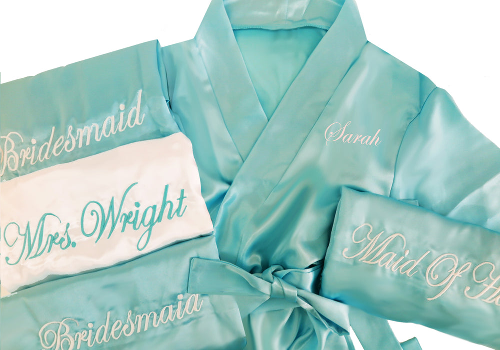 Personalized Bridesmaid Robe with Name on Front and title on Back