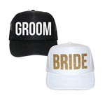 Bride and Groom Hats, Couples Gifts, Wedding Hats, Bride and Groom Gifts