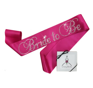 Load image into Gallery viewer, Rhinestone Bride to Be Sash